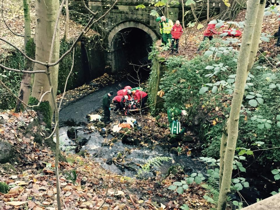 Fallen walker at Heber's Ghyll. Photo: UWFRA