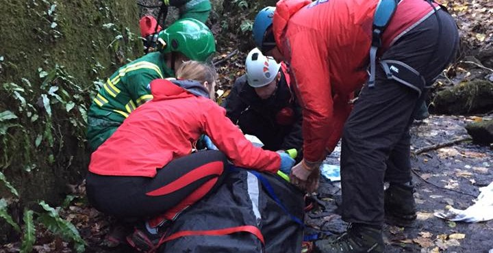 Rescue: UWFRA assist fallen walker at Heber's Gyhll