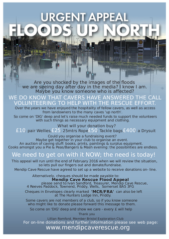 MCR Flood Appeal Poster