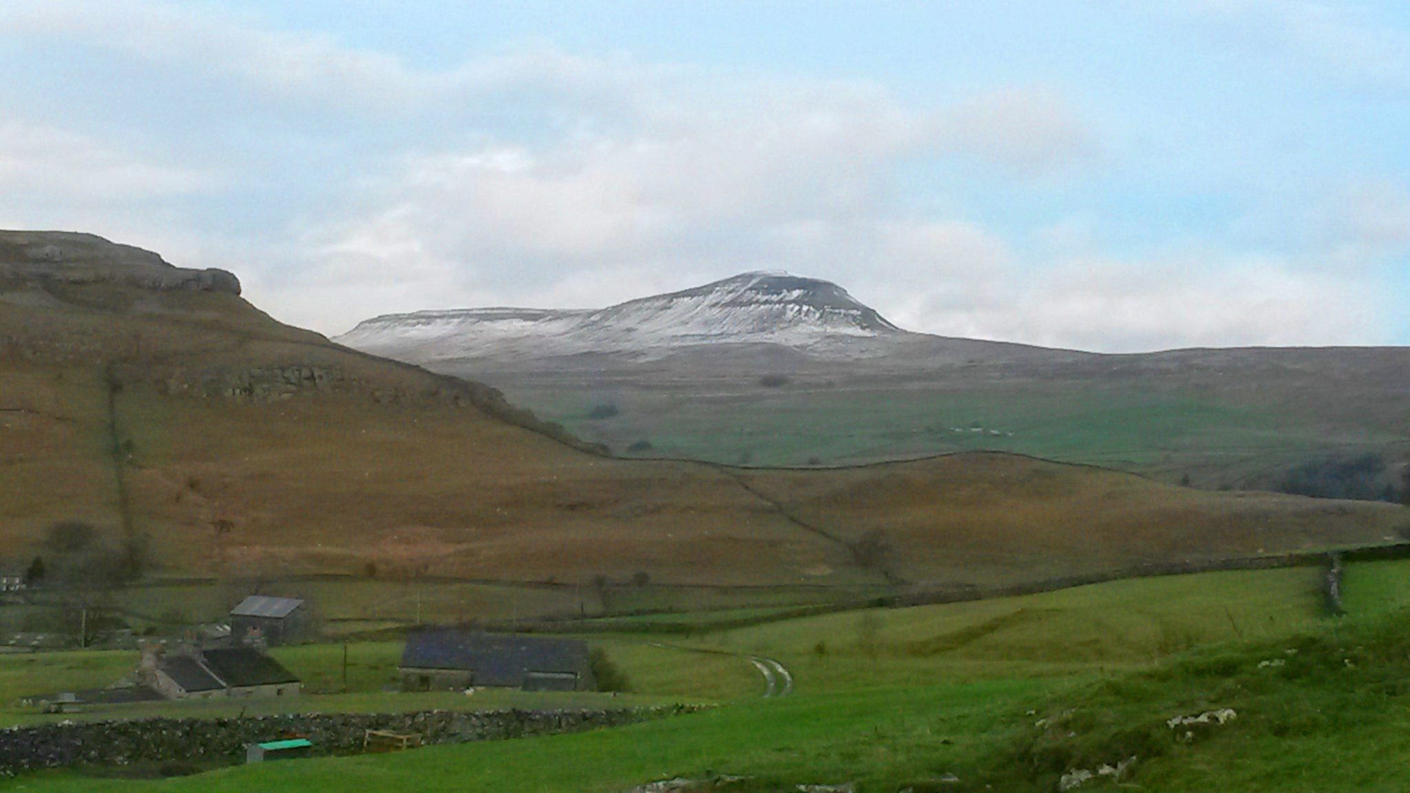 The iconic hill Penyghent, in the Yorkshire Dales. Photo: Tony Brocklebank