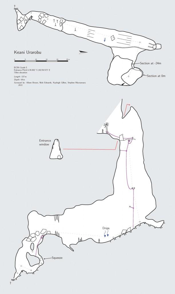 Keani cave survey
