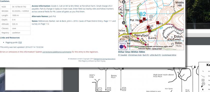 Caving in Derbyshire – DCA Cave Registry now online