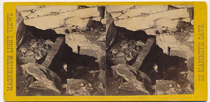 Mammoth Cave Views. No 27, Scotchman's Trap, Charles Waldack, 1866