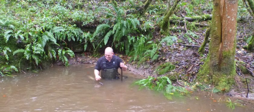 Neil getting very wet 22-11.2016