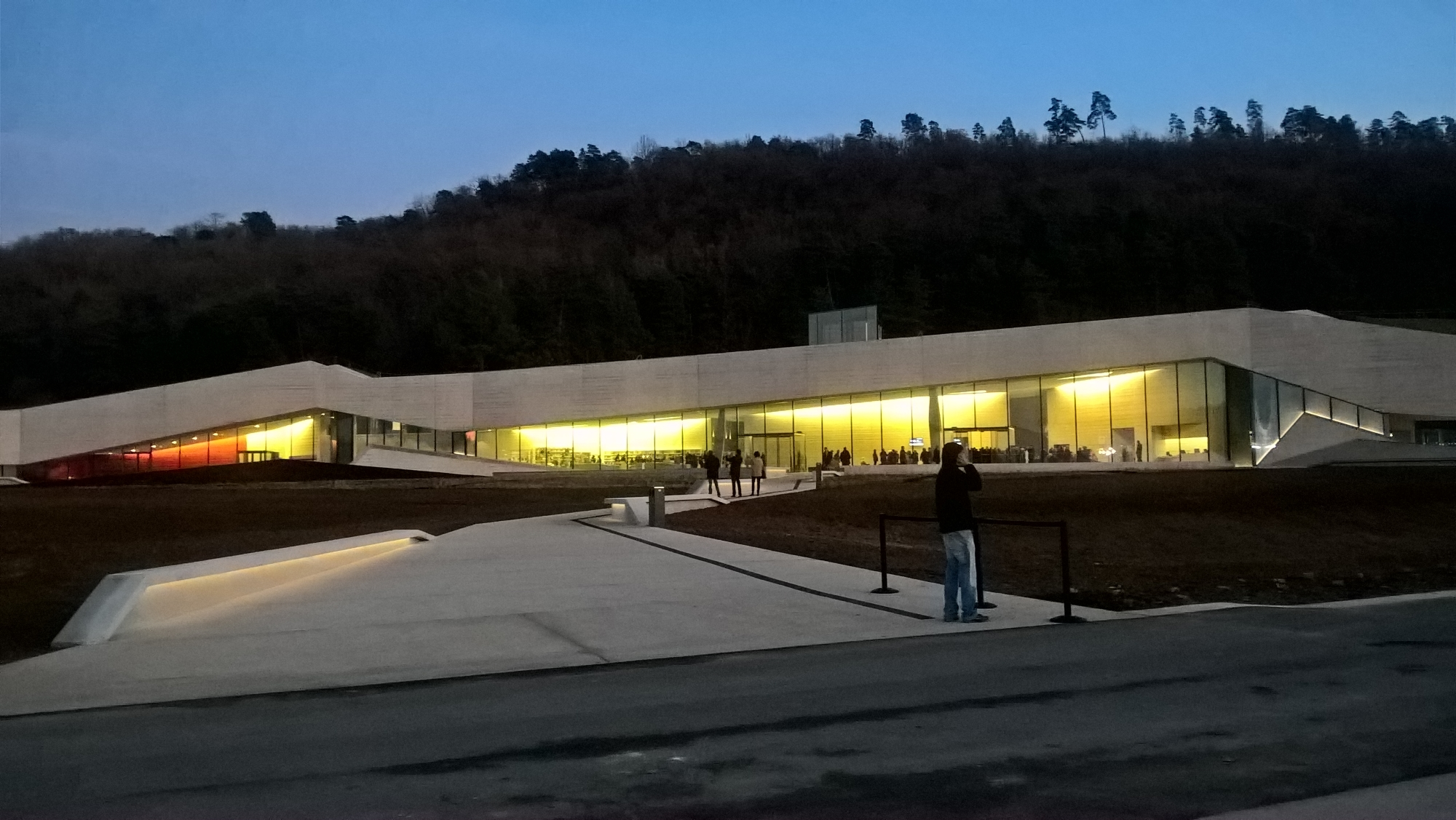The Museum at dusk