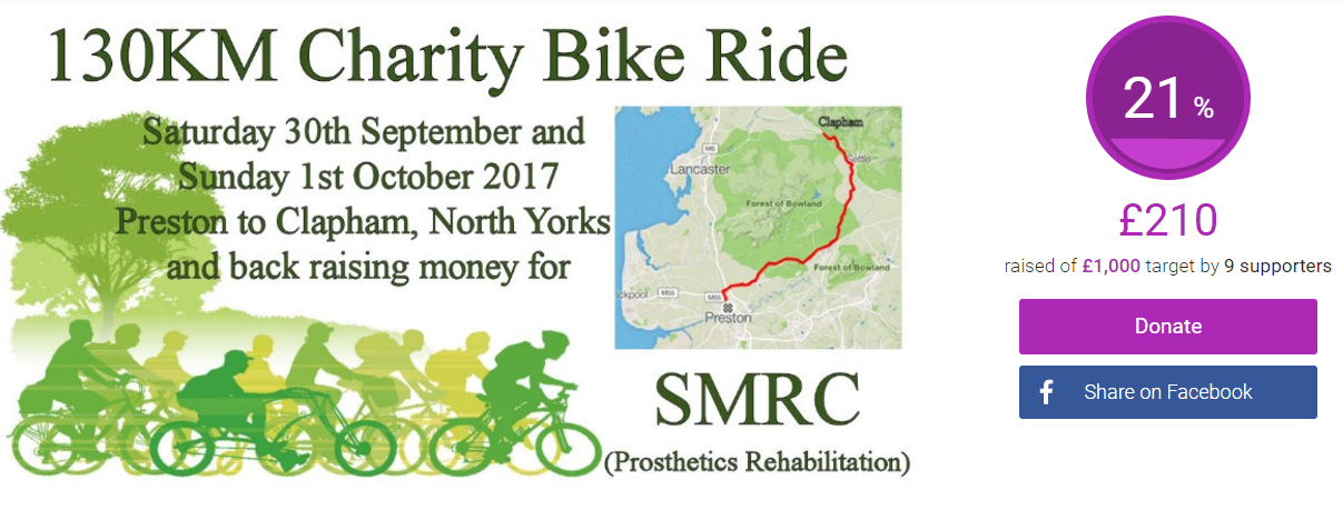 Earby Pothole Club join Charity Bike Ride