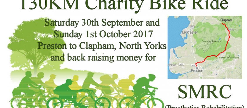 Earby Pothole Club on bikes for charity!