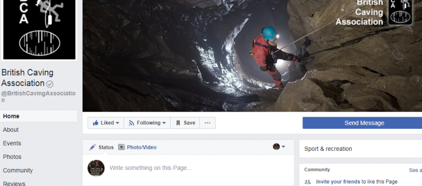News: British Caving Association on Facebook
