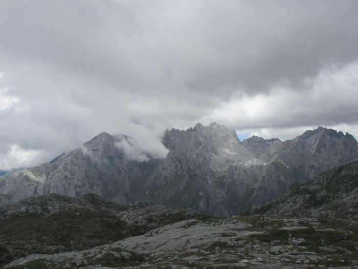 View of the Central Massif on the walk up to Ario (before it disappeared into a cloud for two days).