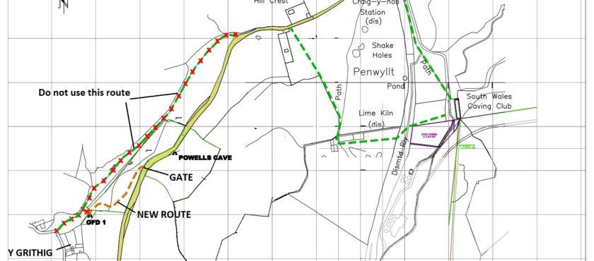 Access to Ogof Ffynnon Ddu 1 entrance